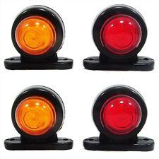 4x Indicador SMD LED Intermitente Naranja Rojo Para Camión Remolque 12V/24V