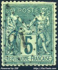 FRANCE TYPE SAGE N° 75 BELLE OBLITERATION JOUR DE L'AN ETOILE N°15 A VOIR