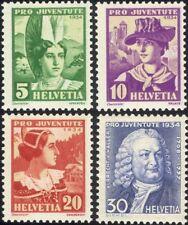 Suiza 1934 Caja de socorro/Disfraces/Ropa/Textil/Sombreros 4 V Set (ch1039)