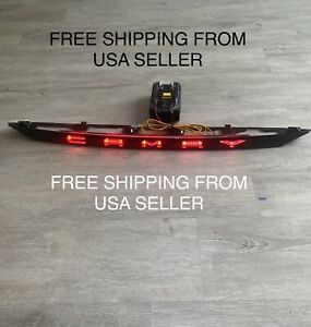BLACK Rear Trunk Central Light LED w/ Dynamic Stop For Toyota Camry 2018-2021