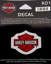 "Harley Davidson Bar And Shield Decal  Small 2"" X 1.5""  Licensed Made USA"