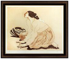 R.C. GORMAN Color Lithograph Native American Woman Portrait Hand Signed Artwork
