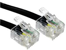 RJ11 TO RJ11 (6P4C) BLACK 3M Cable Assemblies 88BT-103K PACK 1