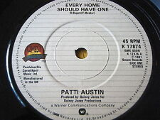 """PATTI AUSTIN - EVERY HOME SHOULD HAVE ONE  7"""" VINYL"""