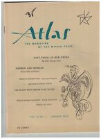Atlas Magazine January 1962 China Corsica Crime in Jamaica Elgin Marbles
