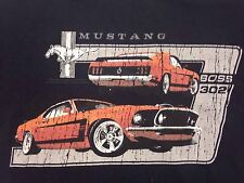 Mustang Boss 302 large Black T-shirt Ford Muscle Car