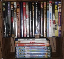 DVD Movies Lot of 27 Used 1-New and 3 Blu ray, Action, Sci Fi,Western, Childrens