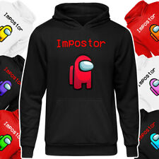 Kids Among Us 'Impostor' Character Colours Hoodie Boy Girl Gamer Gaming Pullover