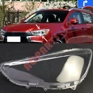 For Mitsubishi ASX 2011-2019 Left Side Headlight  Clean Cover PC+Glue Replace