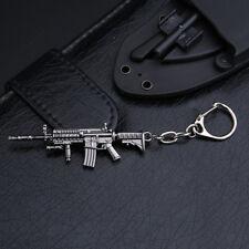 Gun Pendant Key ring chain Cross Fire 62mm AR15 Weapon Model Metal
