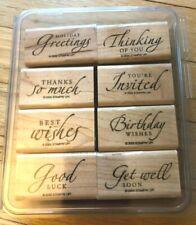 Stampin' Up! stamp set - Sincere Salutations