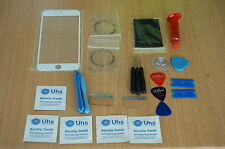 iPhone 6 Plus Blanco Kit De Reparación Vidrio, Pantalla Frontal, Antorcha UV