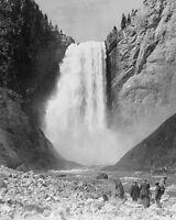 Lower Yellowstone Falls at Yellowstone National Park 1905 Photo Print