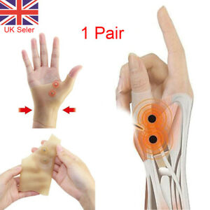 2X Silicone Wrist and Thumb Support Carpal Magnetic Tendonitis Arthritis Relief