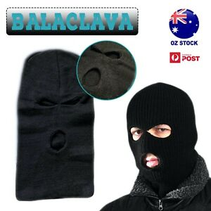 3 Holes Knitted Balaclava Face Mask Cover Hat Winter Ski Cycling Neck Outdoor CS