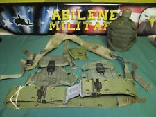 Us Military Lot Lbe Pistol Belt Lg Suspenders 2Ammo Pouch Canteen First Aid Good