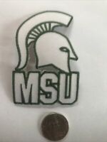 "MSU Michigan State Spartans embroidered iron on patch  vintage 3""x 2"""