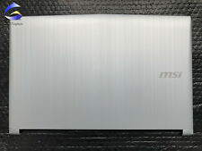 New For MSI PE60 6QE PE60 2QE-044XCN Top LCD Rear Cover Back Case Silver Plastic