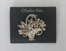 CHARLES KLEIN Flowers in the Basket Pin/Brooch - NEW
