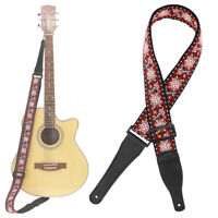 Vintage Woven Guitar Strap for Acoustic and Electric Guitars Jacquard Weave Hot