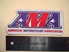 "AMA AMERICAN MOTORCYCLE ASSOCIATION WHITE VEST JACKET PATCH   4 7/8"""