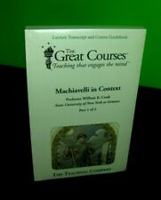 MACHIAVELLI in Context by Cook, Lectures 1-24 GREAT COURSES, Transcript, NEW
