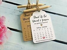 Pencil Us In Calendar Save the Date Tags Rustic Cards with Envelopes Wedding PT4