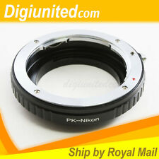 Macro Pentax K mount PK lens to Nikon F mount adapter D4 D600 D810 D7200 D5300