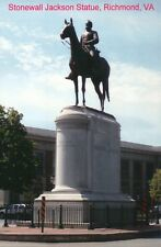 Confederate Statue Stonewall Jackson Monument Avenue Richmond Virginia, Postcard