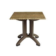 "Grosfillex Ut375018 Wicker Decor Atlanta 36"" Square Pedestal Table"