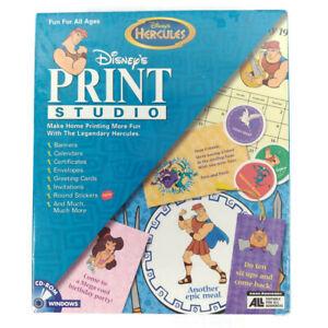 Disney Hercules Print Studio PC Windows CD-Rom Kit Desktop Publishing Projects