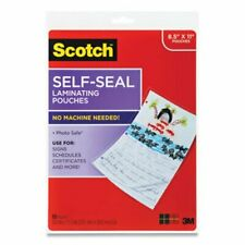 Scotch Self Sealing Laminating Pouches 95 Mil Clear 10pack Mmm70005147700