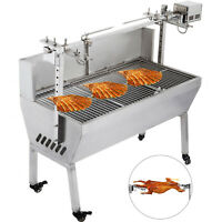 42'' Large Stainless Steel BBQ,Pig,Lamb,Goat,Chicken Spit Roaster,Rotisserie TOP