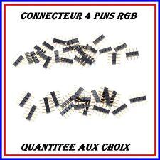 CONNECTEUR BROCHE RGB 4 PINS POUR RUBAN LED STRIP 5050/3528 !