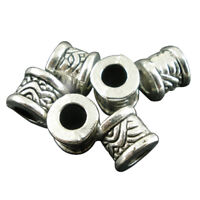 50Pcs Silver Tone Carved Spacer Beads 8x7mm-Jewellery Making,DIY Crafts Z9P7