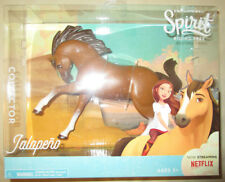 DREAMWORKS SPIRIT RIDING FREE JALAPENO HORSE BROWN WHITE SPECKS COLLECTOR DELUXE