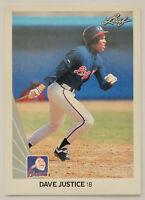 1990 LEAF BASEBALL Dave Justice Rookie Card RC #297 NM Braves Yankees ROY David