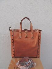 UGG ITALIAN COLLECTION BALLADEER TERRA BROWN LEATHER TOTE PURSE ~ NEW
