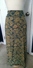 LulaRoe Maxi Skirt, Paisley, Large, NWT