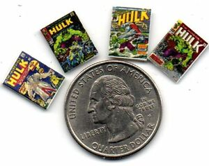 4  The Hulk COMIC  Set  DOLLHOUSE MINIATURE 1:24 opening BLANK pages