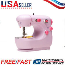US Portable Electric Sewing Machine Desktop Household Tailor 2-Speed Foot Pedal