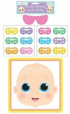 PIN THE DUMMY ON THE BABY Shower Fun Party Game 12 Player Stick Pacifier Gift UK