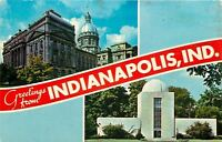 Greetings From Indianapolis Indiana~State Capital And Holcomb Observatory~1950's
