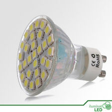 Bombilla LED GU10 30 SMD 5050 Blanco Cálido 220V - Únicamente 6W.