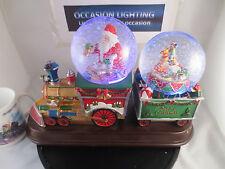 Tren Navideño escena Snow Globe Globo De Agua De Música Y Luces Hermosa Escena