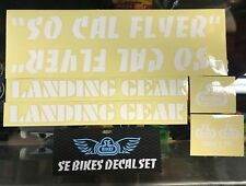 SE RACING - SO CAL FLYER BMX DECAL STICKER SET - SO CAL FLYER STICKERS - WHITE