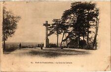 CPA forét Fontainebleau - the cross of calvary (166644)