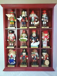 Nutcracker set Member's Mark 12 Mini Plus it's Display case New