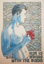 original watercolour nude portrait - There is Something Wrong with the Birds