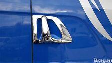 Para adaptarse a Scania 4 R P G 6 serie manija de la puerta de Cromo Tapas Set 4 piezas